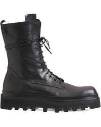 Ernesto Dolani Walter Leather Combat Boots - Black
