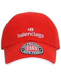Balenciaga Бейсболка Из Хлопка С Логотипом - Красный
