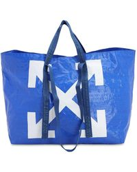 Off-White c/o Virgil Abloh Arrows Print Oversized Tote - Blue