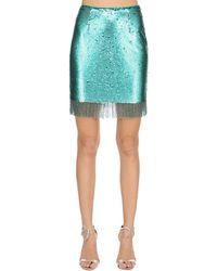 Vivetta Sequined Mini Skirt W/ Fringe - Multicolour