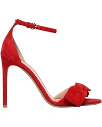 Valentino - 105mm Pretty Bow Suede Sandals - Lyst