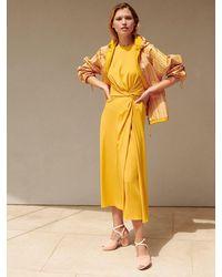 Loro Piana Платье Из Шелкового Жоржета - Желтый