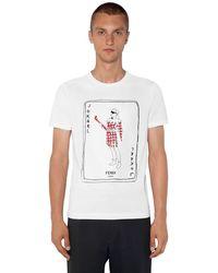 "Fendi T-Shirt ""Karl"" In Cotone - Bianco"