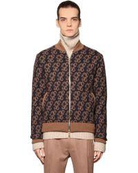 Etro - Tapestry Wool Intarsia Bomber Jacket - Lyst