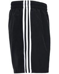 adidas Originals Adicolor - Pantaloncini neri con tre strisce - Nero