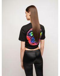 Versace - コットンジャージークロップドtシャツ - Lyst