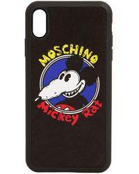 Moschino Iphone Xs Max-cover Mit Druck - Schwarz