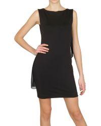 Kai-aakmann - Draped Chiffon Structured Jersey Dress - Lyst