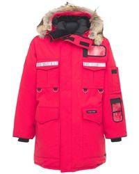 Canada Goose Пуховик С Мехом - Красный