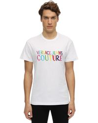 Versace Jeans Couture コットンジャージーtシャツ - ホワイト