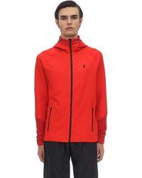 Peak Performance Rider Zip-up Techno Sweatshirt Hoodie - Red