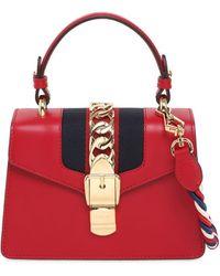 Gucci Mini Sylvie Leather Shoulder Bag - Red