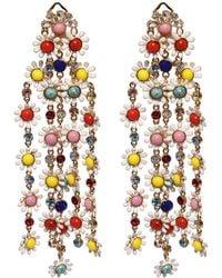 Elie Saab Daisy Multicolored Earrings