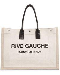 Saint Laurent Shopper Bag - Natural