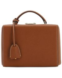 Mark Cross Small Grace Grained Leather Box Bag - Brown