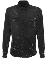 Dolce & Gabbana Рубашка Из Денима - Черный