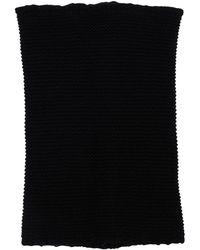 Rick Owens リサイクルカシミア&ウールニットカラー - ブラック
