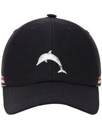 Thom Browne Dolphin ウールブレンドベースボールキャップ - ブルー