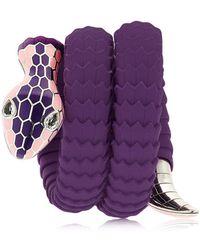 TAMARA DONALLI - Clea Blueberry Snake Wrap Bracelet - Lyst
