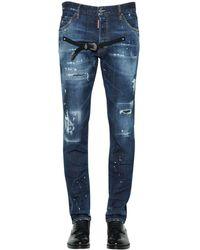 DSquared² 16.5cm Cool Guy Denim Jeans W/ Belt - Blue