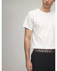 Calvin Klein ロゴバンドスウェットハーフパンツ - ブラック