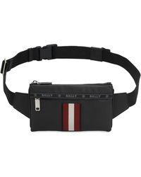 Bally - Logo Stripe Mini Leather Belt Bag - Lyst
