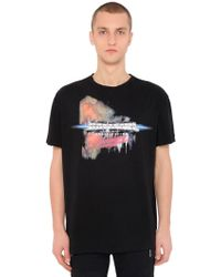 Balmain - Printed Cotton Jersey T-shirt - Lyst