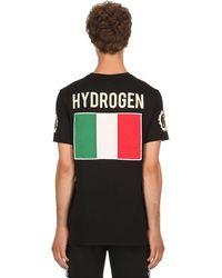 Hydrogen Garage Italia コットンジャージーtシャツ - ブラック