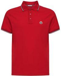 Logo Patch Cotton Piqué Polo Shirt
