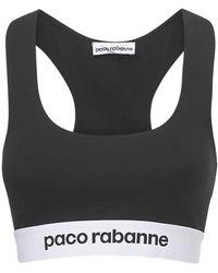 Paco Rabanne ジャージースポーツブラ - ブラック