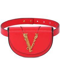 Versace スムースレザー ベルトバッグ - レッド