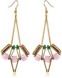 Scho Lotus Earrings - Metallic