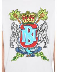 Neil Barrett Camiseta De Jersey De Algodón Estampada - Blanco