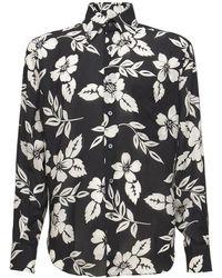 Tom Ford Рубашка Из Лиоцелла С Цветочным Принтом - Черный