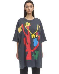 Faith Connexion Vestido Camiseta De Jersey De Algodón - Azul