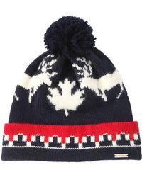Dsquared² Deer Wool   Alpaca Knit Hat W  Pompom in Blue for Men - Lyst a3d8a7d07aac