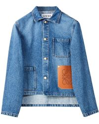 Loewe オーガニックコットンデニムジャケット - ブルー