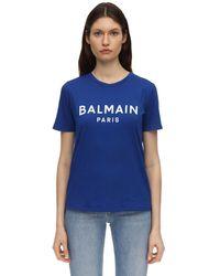 Balmain - コットンジャージーtシャツ - Lyst