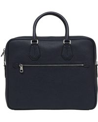 Bally - Pebbled Leather Briefcase - Lyst