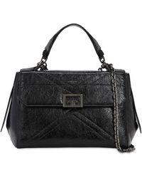 Givenchy Id Flap クラックルレザーバッグ - ブラック