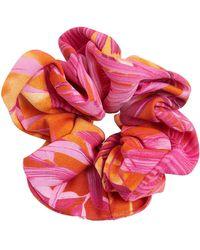 Versace Jungle Print Scrunchie - Pink