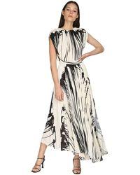 Proenza Schouler Платье Из Крепа С Принтом - Черный