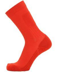 Y-3 ロゴ ナイロン混靴下 - オレンジ