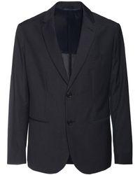 Armani Exchange シングルブレステッドジャケット - ブラック