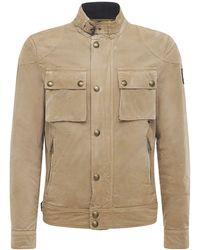 Belstaff Куртка Из Хлопка Racemaster - Естественный