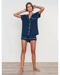 "Eberjey Pyjama-set Aus Jersey ""giselle"" - Blau"