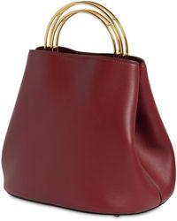 Marni Medium Pannier Leather Bucket Bag - Red