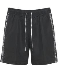 Calvin Klein Шорты Для Плавания Из Переработанного Нейлона - Черный