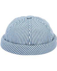 Beton Cire - Handmade Striped Cotton Denim Sailor Hat - Lyst