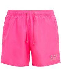 EA7 プリント水着 - ピンク